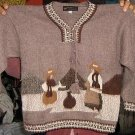 Folklorical motive Sweater for Kids neck, Alpaca Wool