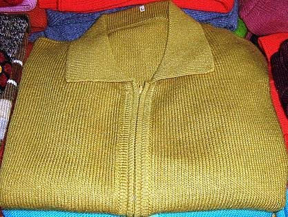 Green cardigan,pure Alpaca wool with ziper, jumper