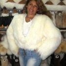 Fur Jacket, outerwear with long hair Babyalpaca pelt
