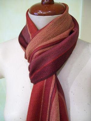 Light Scarf,shawl mix of Babyalpaca wool and Silk fabric