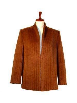 Brown Blazer,Jacket made with Surialpaca wool