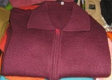 Cardigan with ziper,pure Alpaca wool, jumper