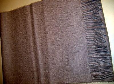 Scarf made with pure Babyalpaca wool, brown shawl
