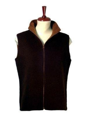 Sleeveless vest,both sides to use, pure alpaca wool