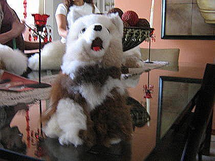 Plush toy,Wulf figure,handmade with original Alpaca pelt