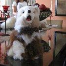 Plush toy,Wulf figure,handmade with original Alpaca pelt