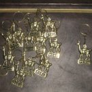Lot of 24 Keyholder, bronze, Alpaca design,wholesale