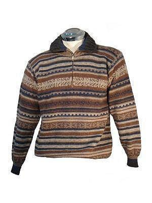 Sweater for men, made with Alpaca wool, v-neck