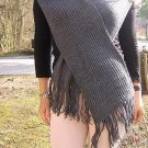 Grey woolen scarf, shawl made of Alpaca wool