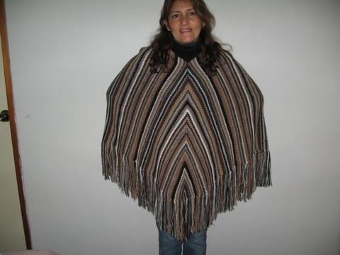 Poncho of pure Alpaca wool,outerwear