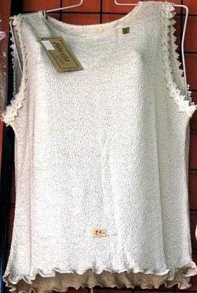 Sleeveless Top, shirt made of ekological Pima Cotton