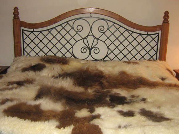 Fur bedspread, coverlet made of Babyalpaka Fur