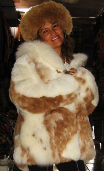 Fur Jacket,coat made of Babyalpaca pelt, outerwear