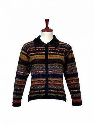 Alpaca wool cardigan, casual Jacket