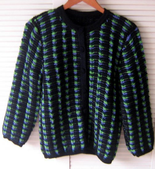 Douple knitted warm Cardigan made of Alpacawool