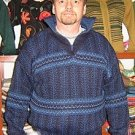 Blue turtleneck for men,sweater made of Alpaca wool