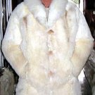 White fur long coat for men, Babyalpaca pelt, outerwear
