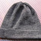 Gray Beanie hat made of alpaca wool,