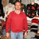 Red sweater made of Babyalpaca wool