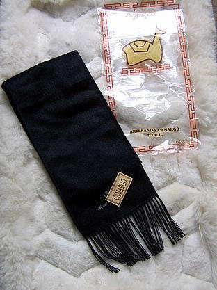 Black alpacawool scarf, neck scarf