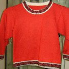 Red sweater,Alpacawool knitted
