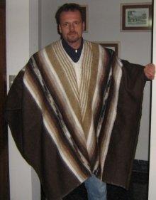 Peruvian poncho made of alpaca wool, outerwear