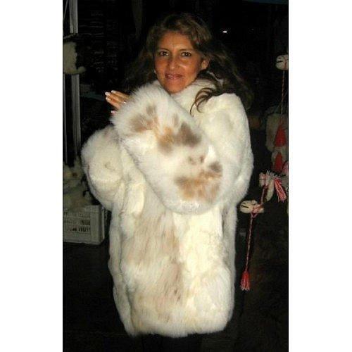 White fur Jacket, Babyalpaca pelt, outerwear