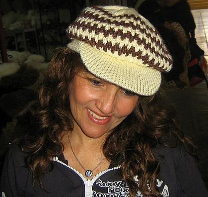 Wool Hat, peaked cap made of alpaca wool