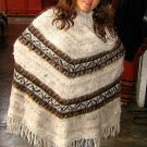 Poncho of the Andean,outerwear made of Alpacawool