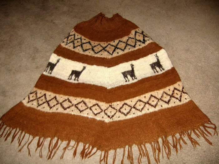 Poncho made of natural Alpaca wool,outerwear