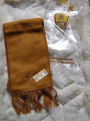 Ocher colored alpaca wool lighter scarf,neck scarf
