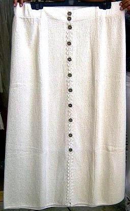 White Skirt from Nusta ,100% ekological pima Cotton