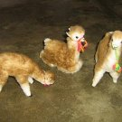 3 Alpacas, alpaca fur soft toys,each 7.8 Inches