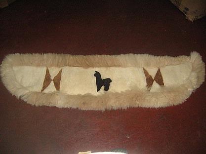 Rug for your back shelf in your car, alpaca fur carpet