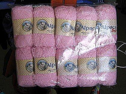 1.1 pounds pink babyalpaca wool, knitting wool, yarn
