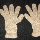 Beige gloves, very soft mittens of alpaca wool