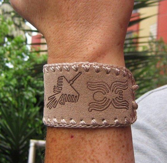 100 Ethno bracelets made of buck skin, wholesale