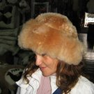 Brown hat, fur cap made of Babyalpaca fur