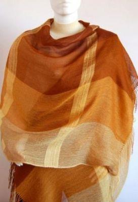 Weaved shawl,scarf mix of Babyalpaca wool and Silk