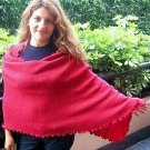 Red shawl, wrap made of Alpaca Wool, scarf