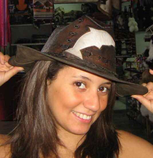 Cowboy hat,stetson made of pure leather, handmade