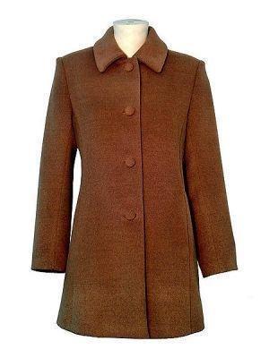 Brown coat made of babyalpaca wool, outerwear
