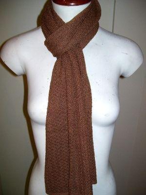 Brown crocheted scarf,shawl made of Babyalpaca wool