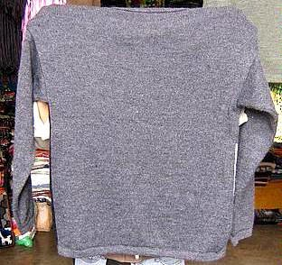 Gray sweater made of pure Alpacawool, round neck