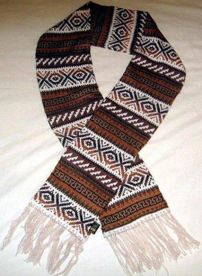 Ethnic peruvian scarf, shawl made of Alpaca wool