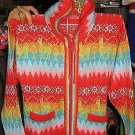 Peruvian hooded sweater  made of pure cosy Alpacawool