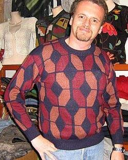 Wool sweater,made of pure Alpacawool, round neck