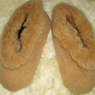 Slippers made of pure Merino sheep fur, house shoes