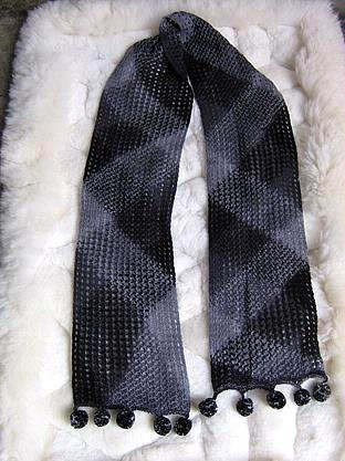 Blue scarf made of  rabbit wool