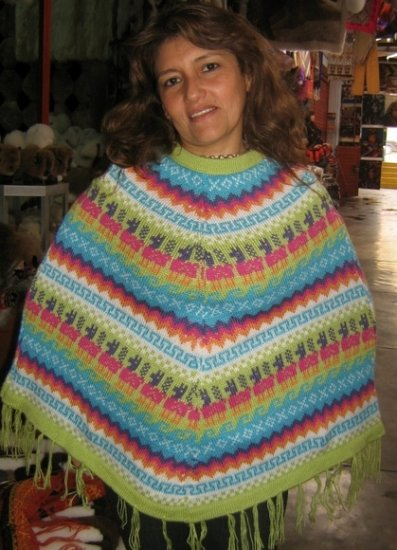 Colored Poncho made of alpaca wool,outerwear